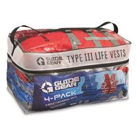 Guide Gear Type III Adult Universal Life Vests, 4 Pack
