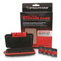 Stealth Cam Memory Card Storage Case with 4-pk. 8GB SD Memory Cards