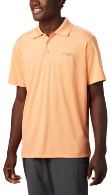 Columbia Skiff Cast Long-Sleeve Polo for Men – Bright Nectar – S