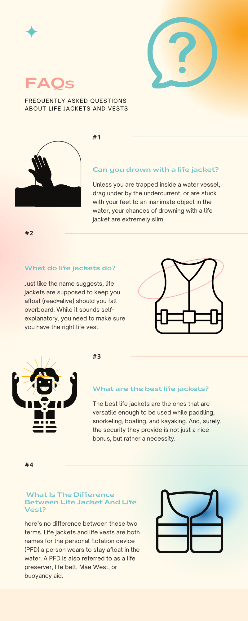 FAQs about life jackets and vests