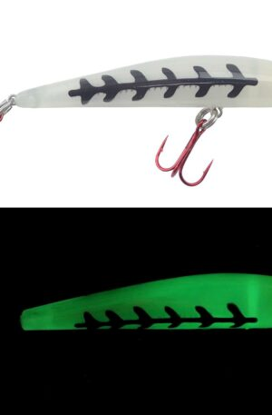 Bay Rat Lures Short Shallow Diver Color Glow Herringbone Size 3 1/2 in