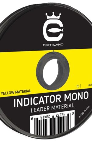 Cortland Indicator Mono Leader Material Test 8 lb Color Yellow Size 50 ft